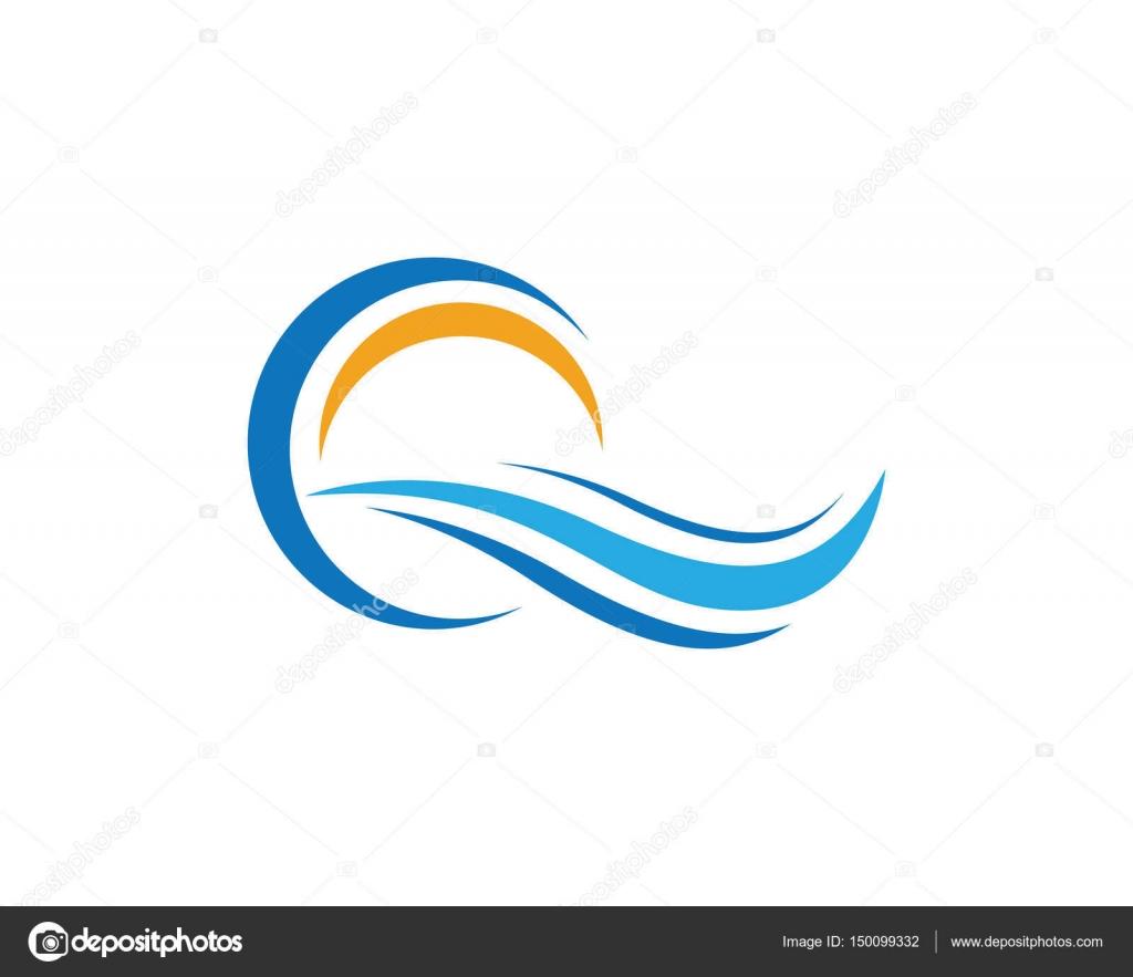 Sun And Wave Logo And Symbols Stock Vector Elaelo 150099332