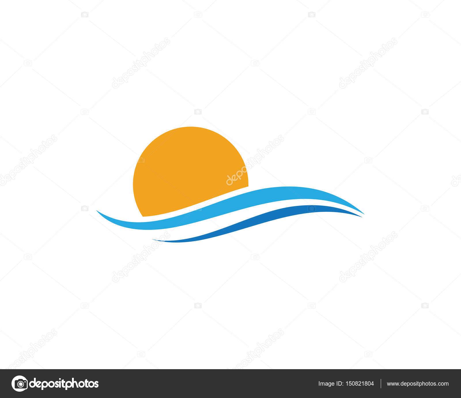 Waters Wave Sea Logo And Symbols Stock Vector Elaelo 150821804