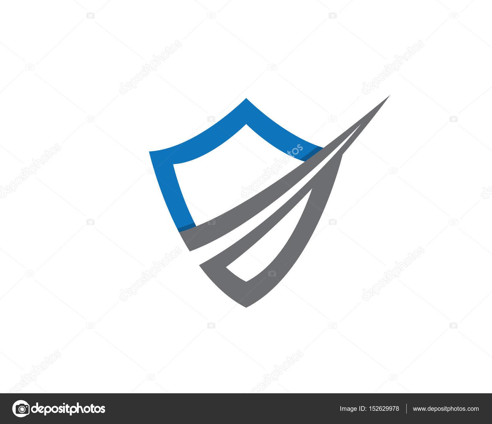 Security guard logo design vector shield template — Stock Vector ...