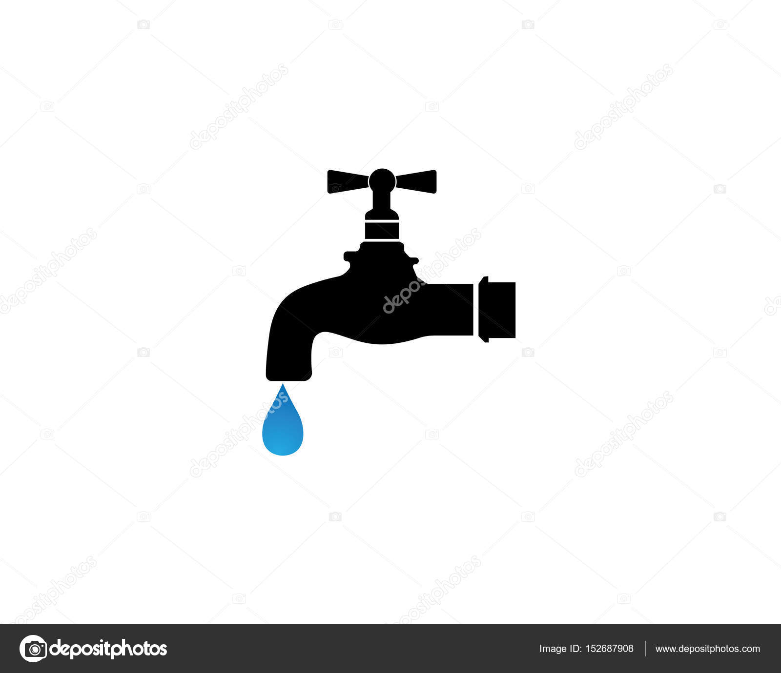 water faucet logo and symbols — Stock Vector © elaelo #152687908