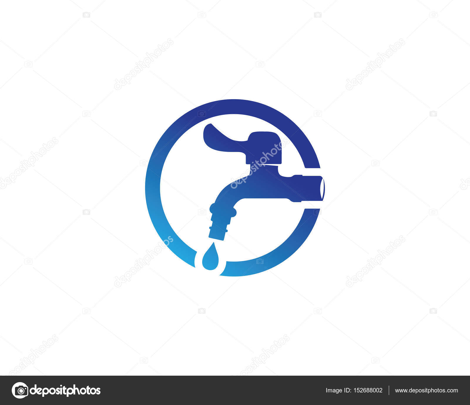 water faucet logo and symbols — Stock Vector © elaelo #152688002