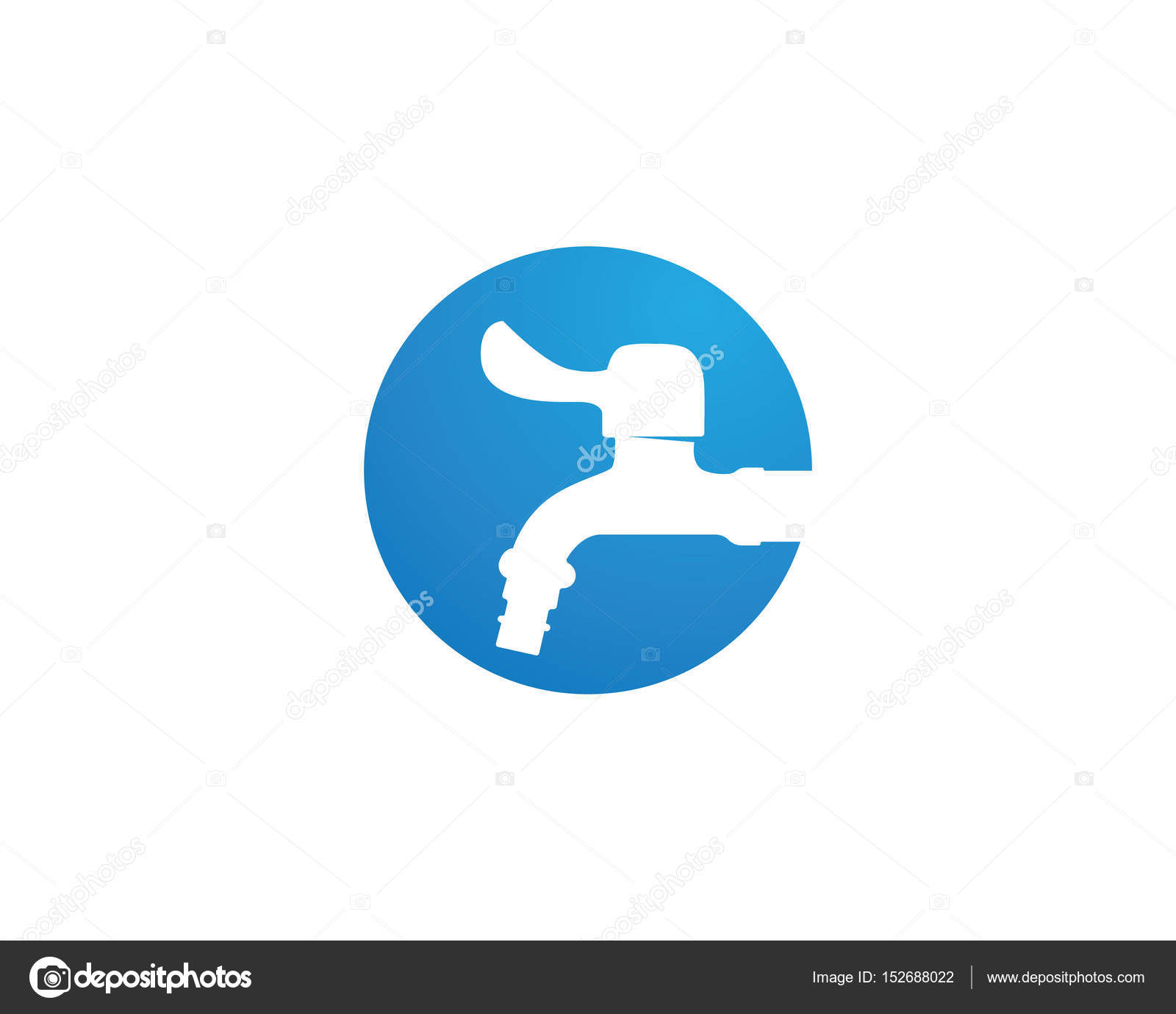 water faucet logo and symbols — Stock Vector © elaelo #152688022