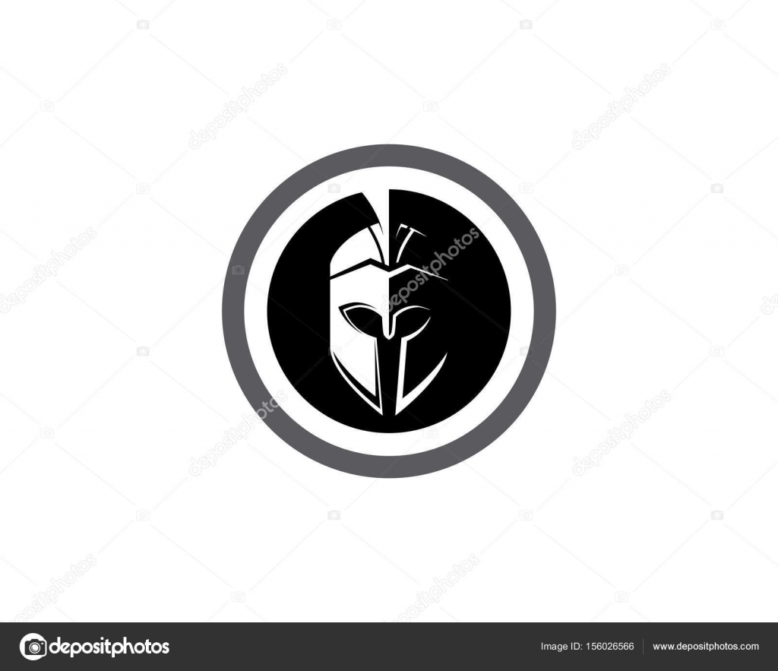 Spartan helmet logo template vector icon stock vector elaelo spartan helmet logo template vector icon stock vector 156026566 pronofoot35fo Choice Image