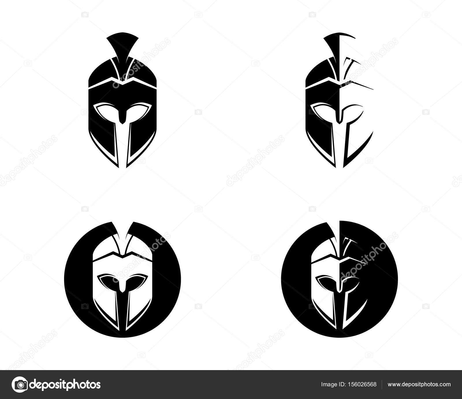 スパルタン ヘルメットのロゴのテンプレート ベクトルのアイコン