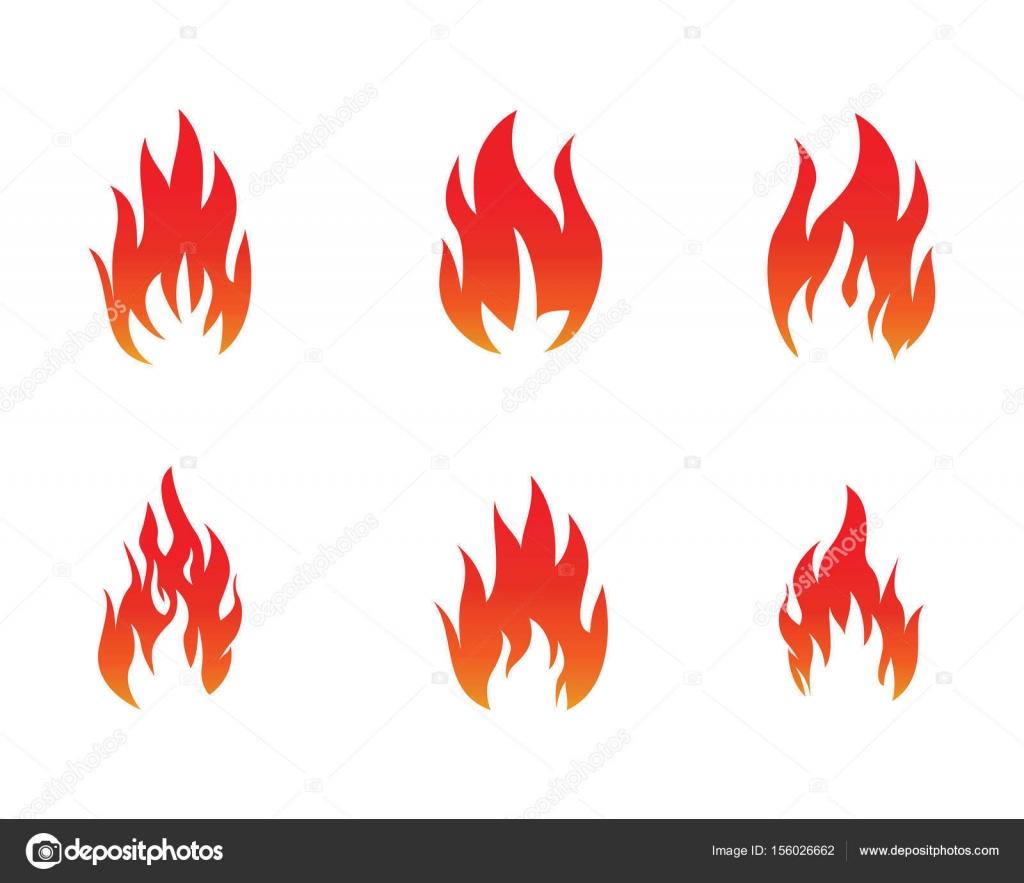 Fire flame Logo Template — Stock Vector © elaelo #156026662