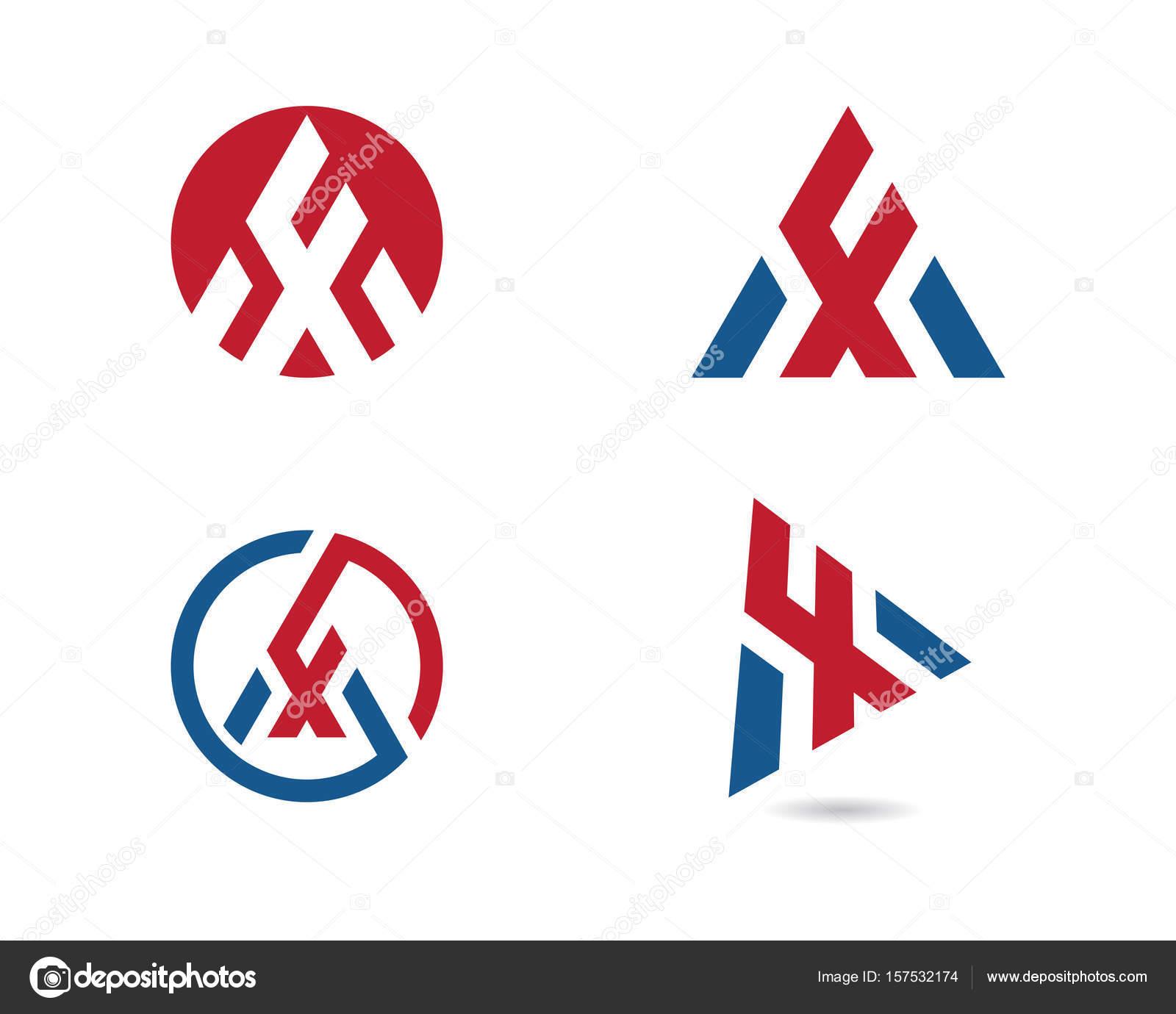 Letra F con triángulo Logo plantilla — Archivo Imágenes ...