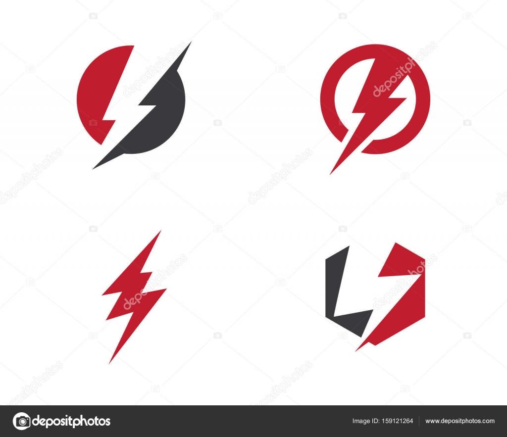 Rayo logotipo plantilla vector icono ilustración diseño — Vector de ...