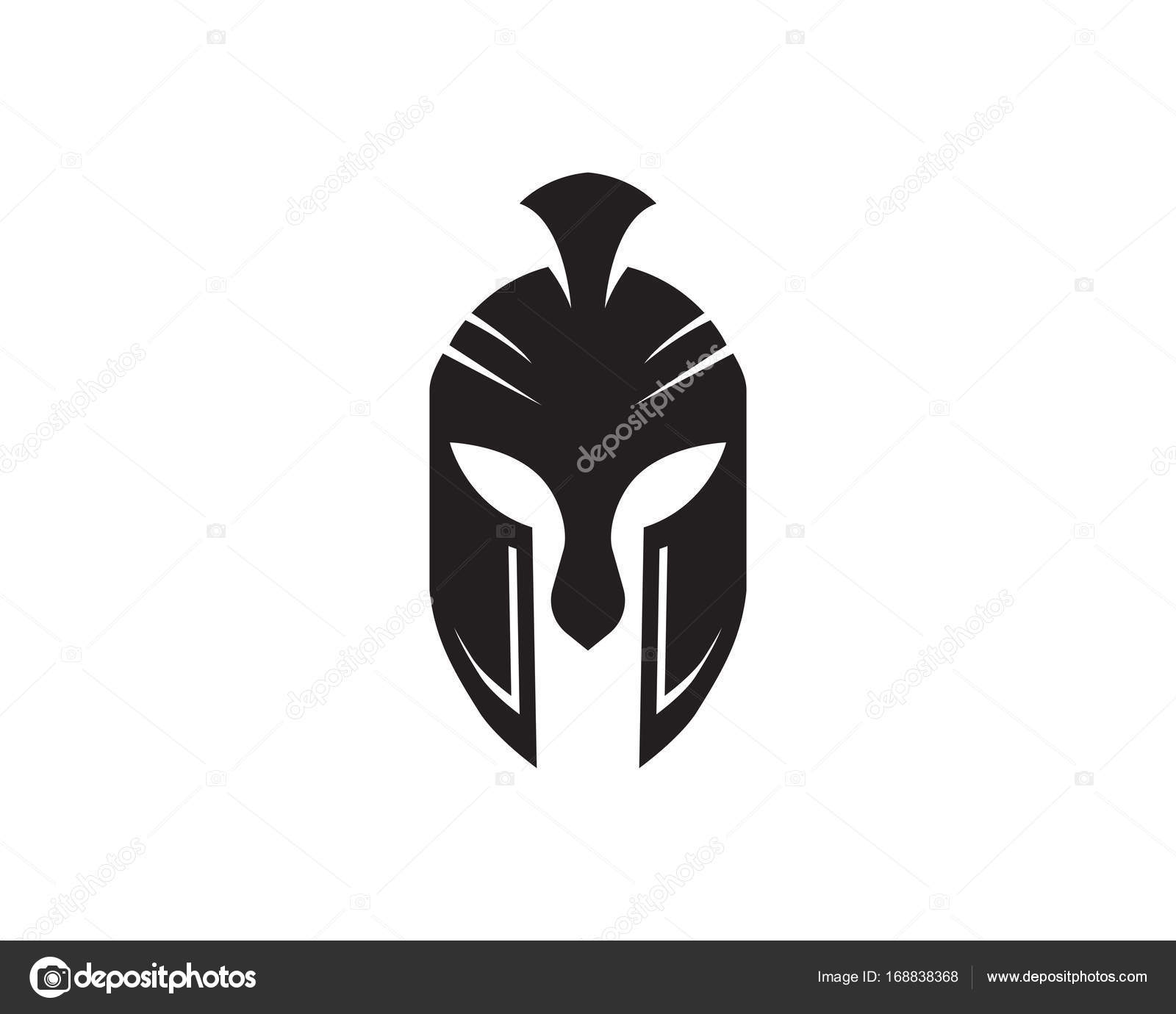 Spartan helmet logo template stock vector elaelo for Spartan mask template