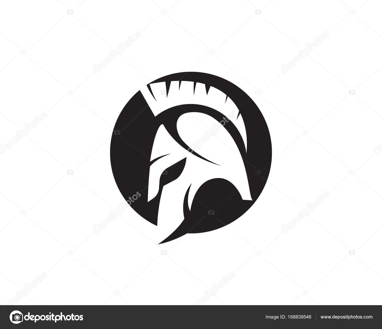 スパルタン ヘルメットのロゴのテンプレート ストックベクター