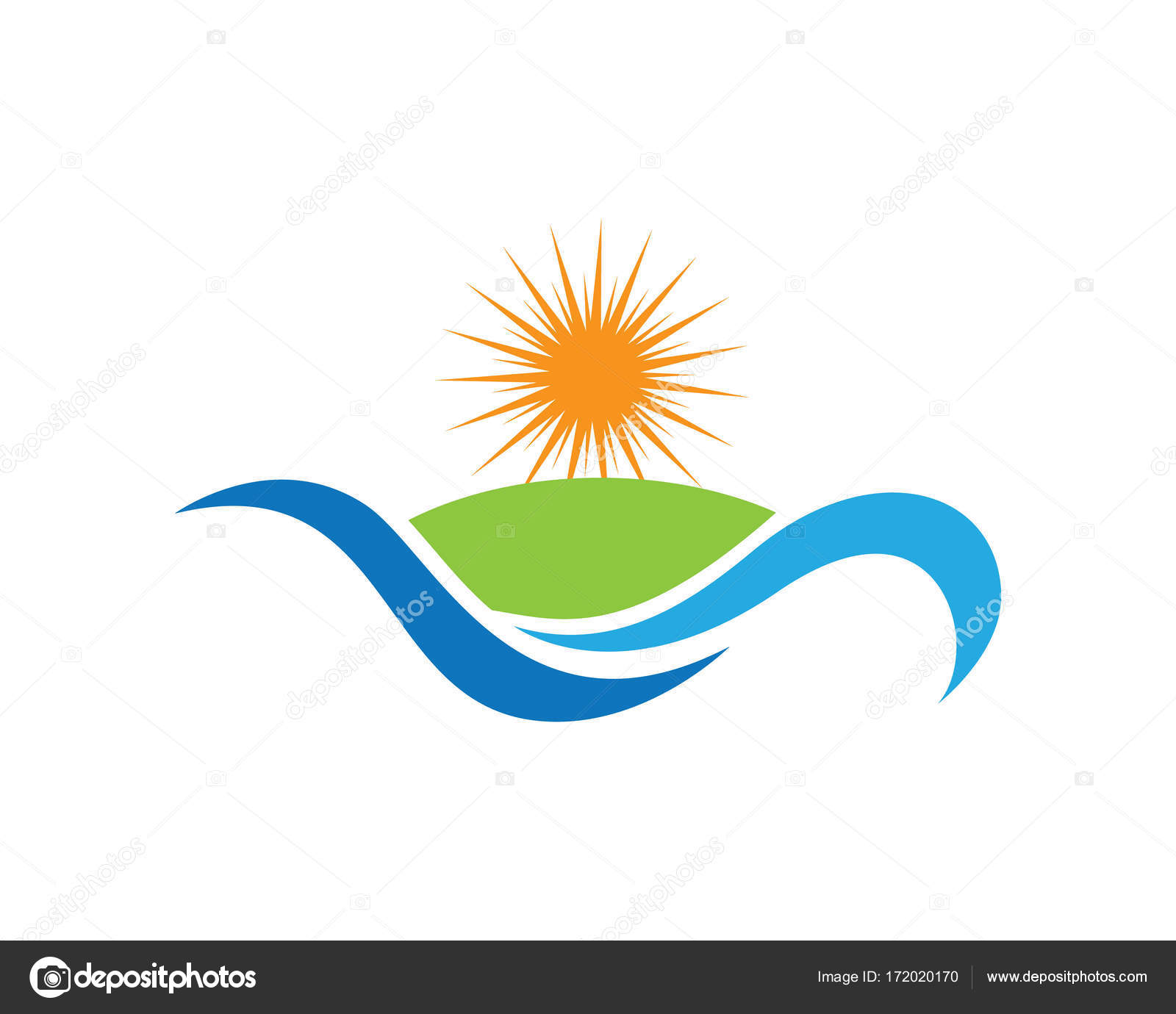 sun logo template stock vector elaelo 172020170