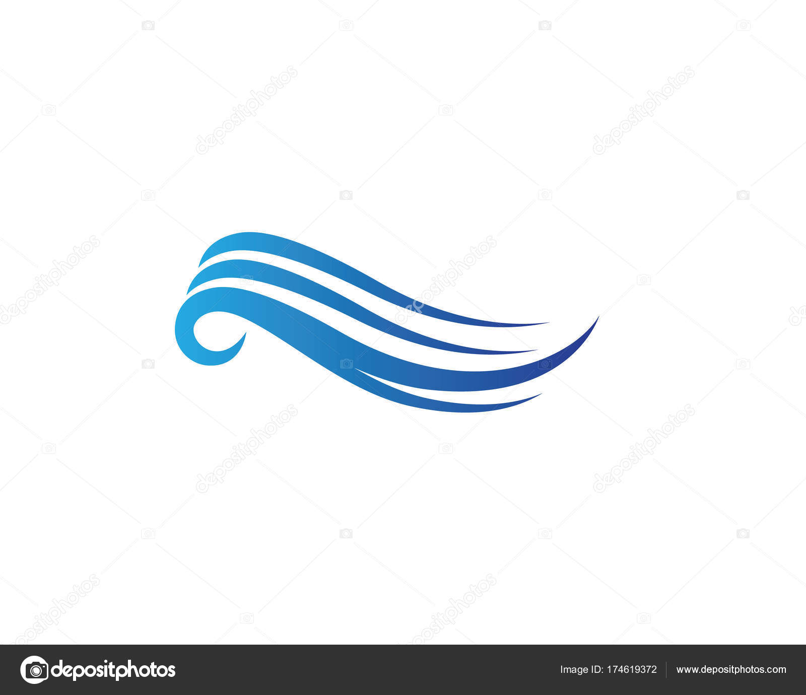 water wave logo template stock vector elaelo 174619372 rh depositphotos com waves free vector download z wave logo vector