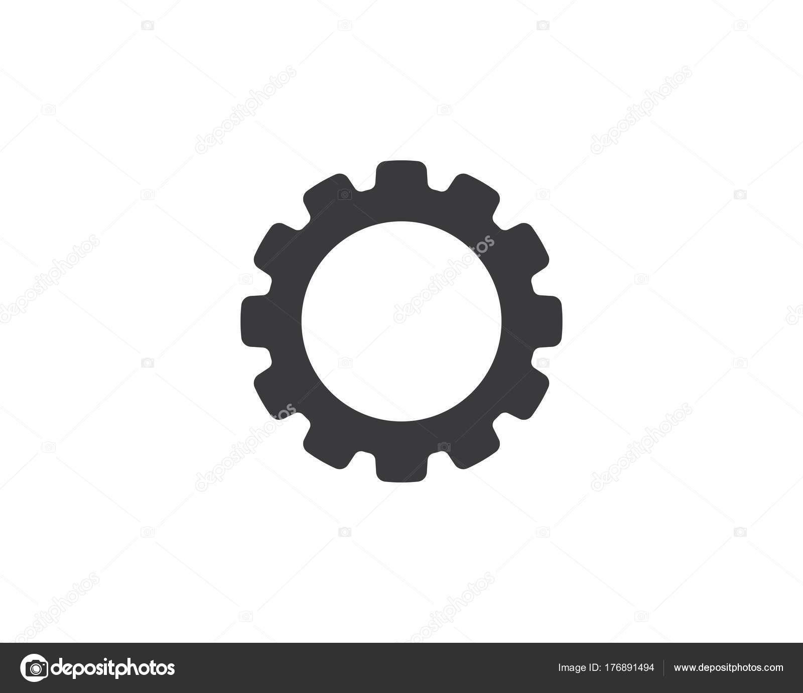 ic u00f4ne d u2019engrenage logo template vecteur  u2014 image