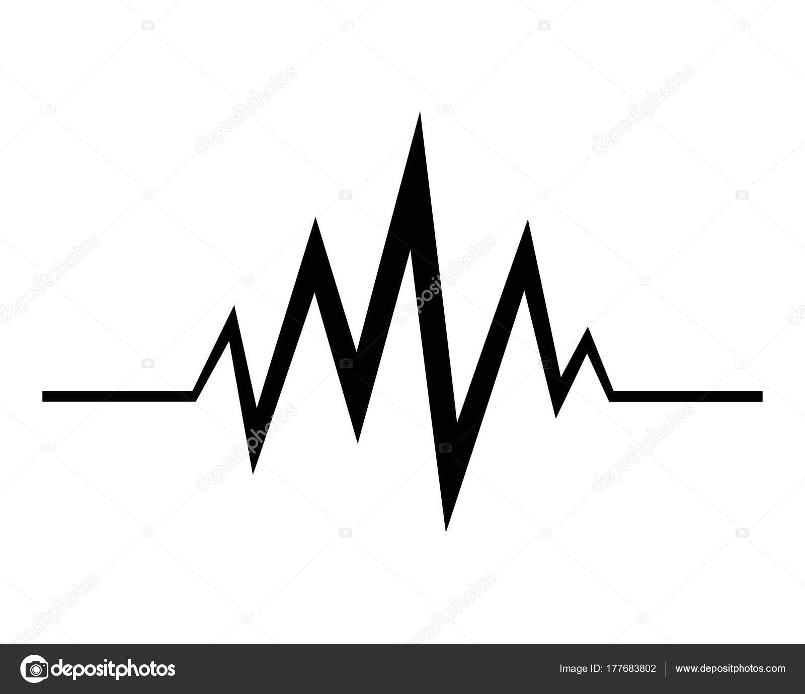 music sound waves vector icon illustration stock vector elaelo rh depositphotos com