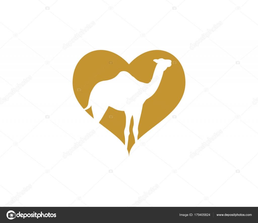 Diseño de plantilla de logotipo icono camello — Archivo Imágenes ...