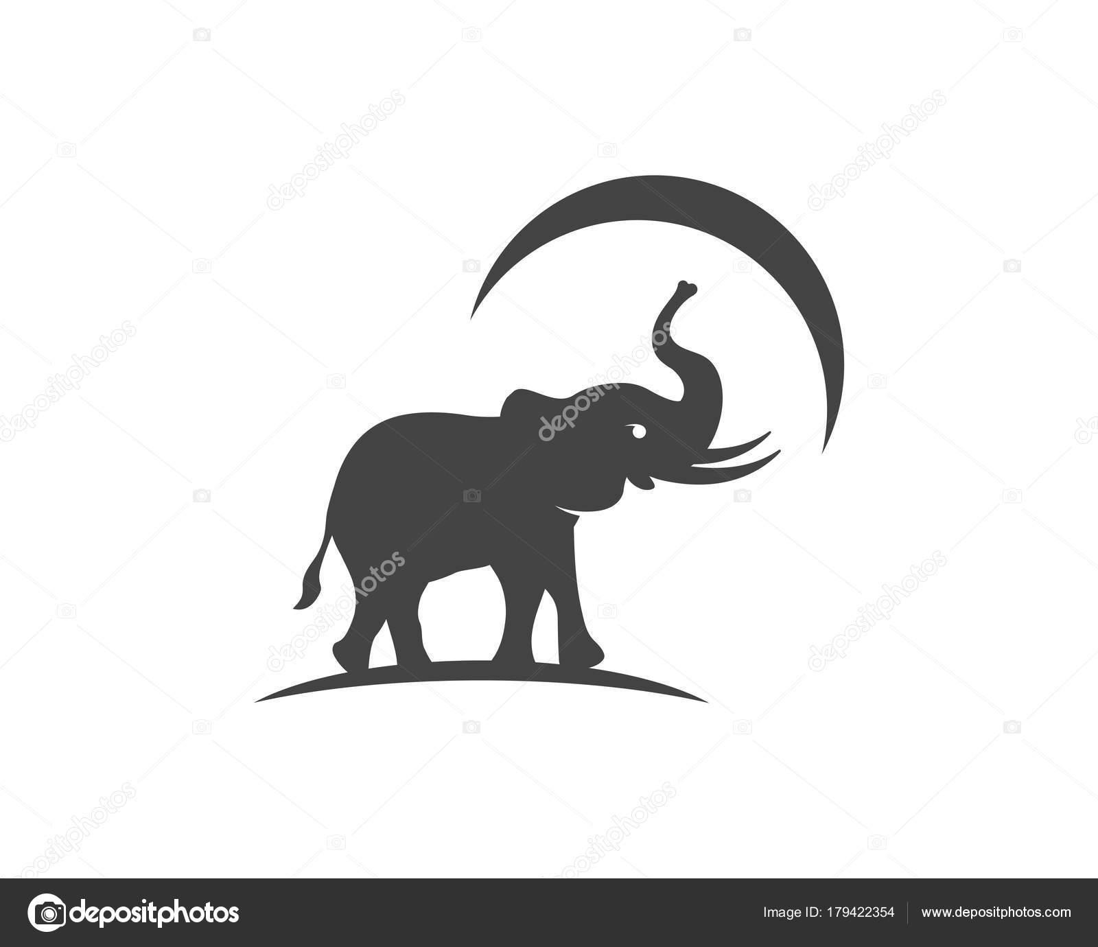 Elefant Logo Vorlage Symbol Stockvektor Elaelo 179422354