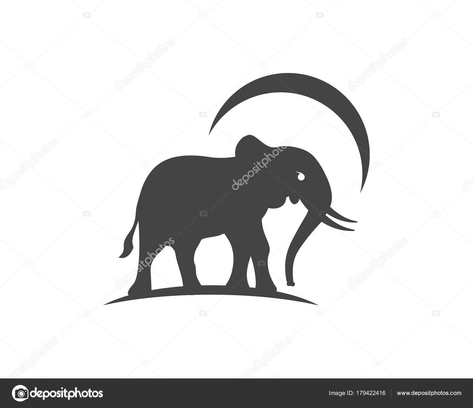 Elefant Logo Vorlage Symbol Stockvektor Elaelo 179422416