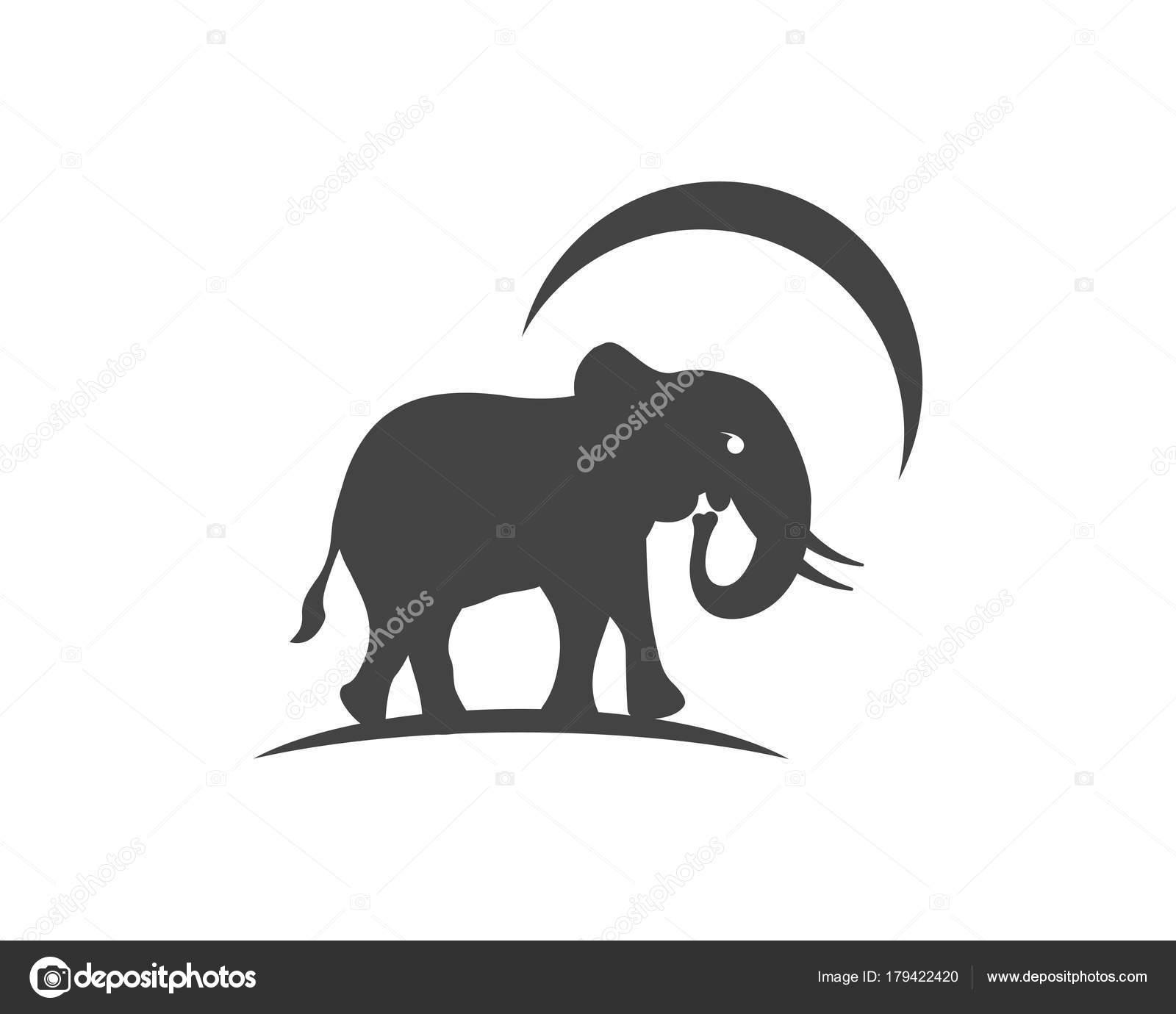 Elefant Logo Vorlage Symbol Stockvektor Elaelo 179422420