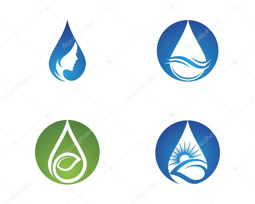 Water drop Logo Template