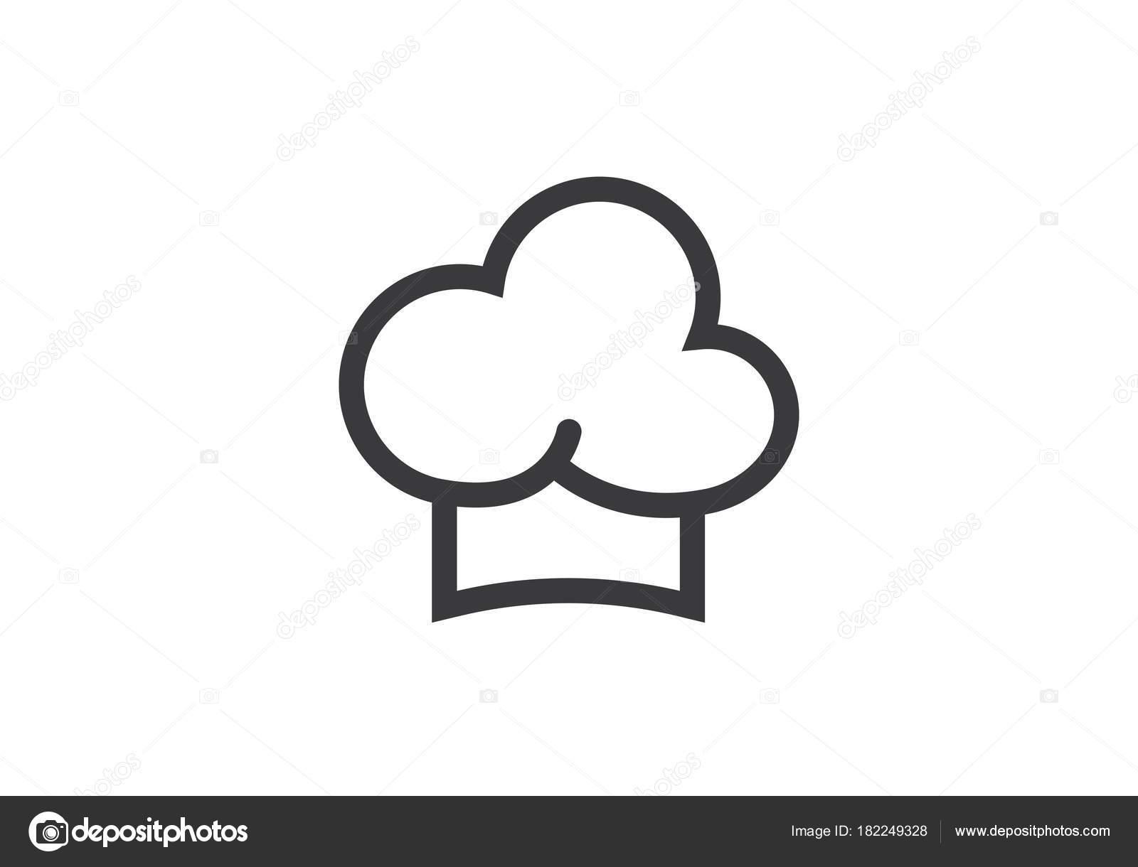 hat chef logo stock vector elaelo 182249328