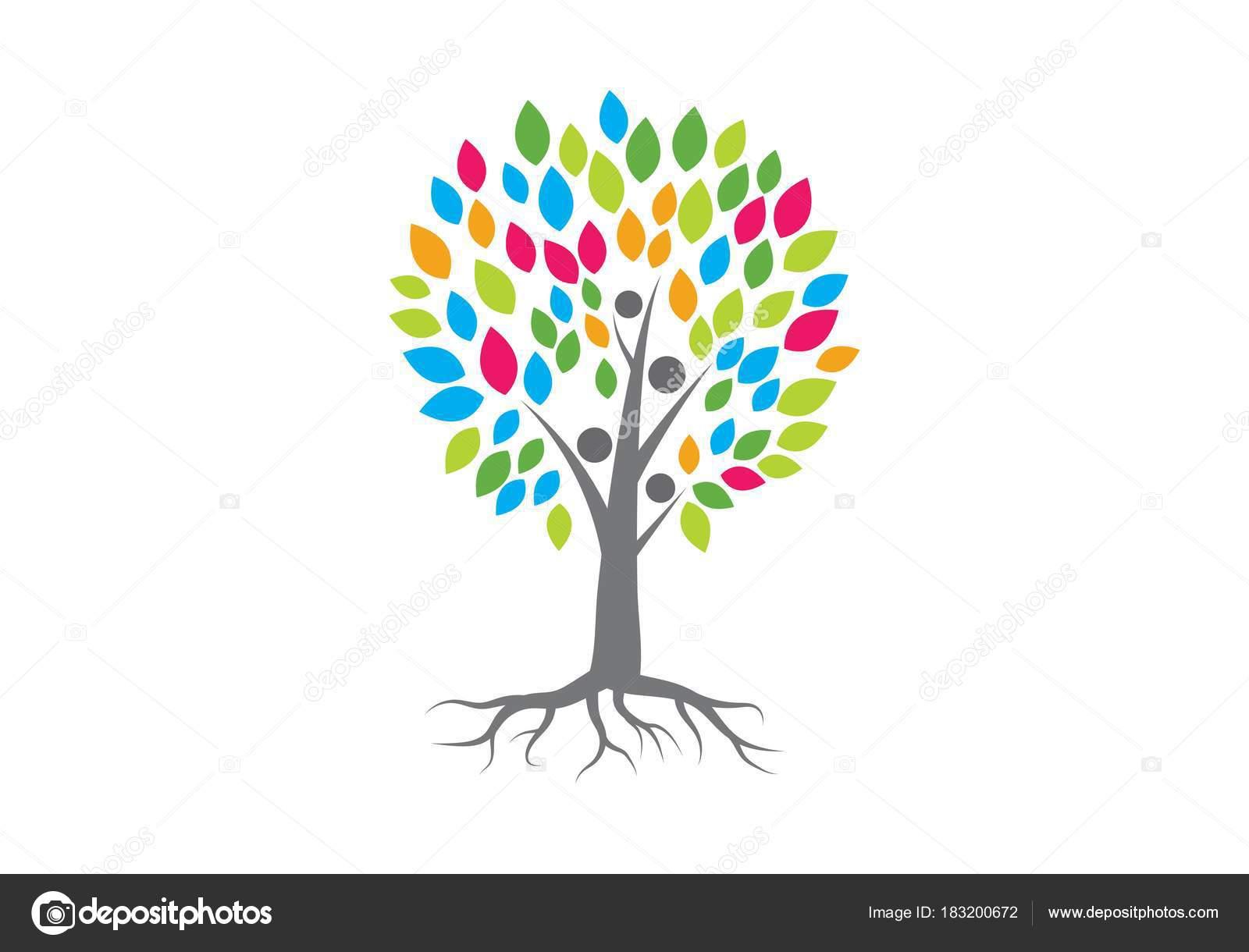 Dibujos Arboles Genealogicos Vector Logo De árbol Genealógico