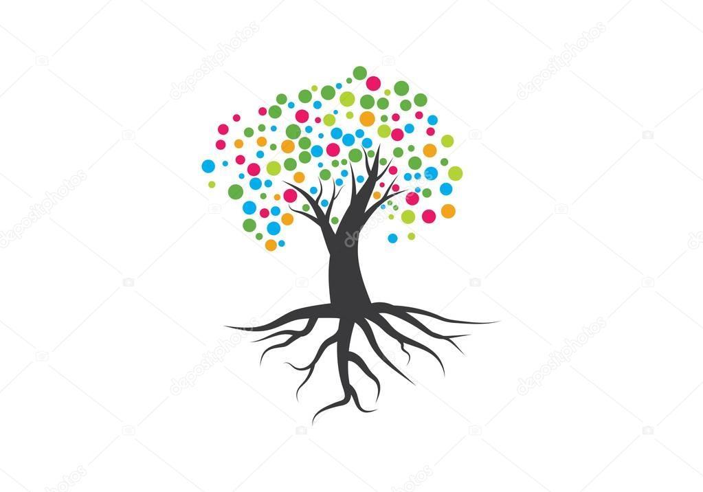family tree symbol icon logo design