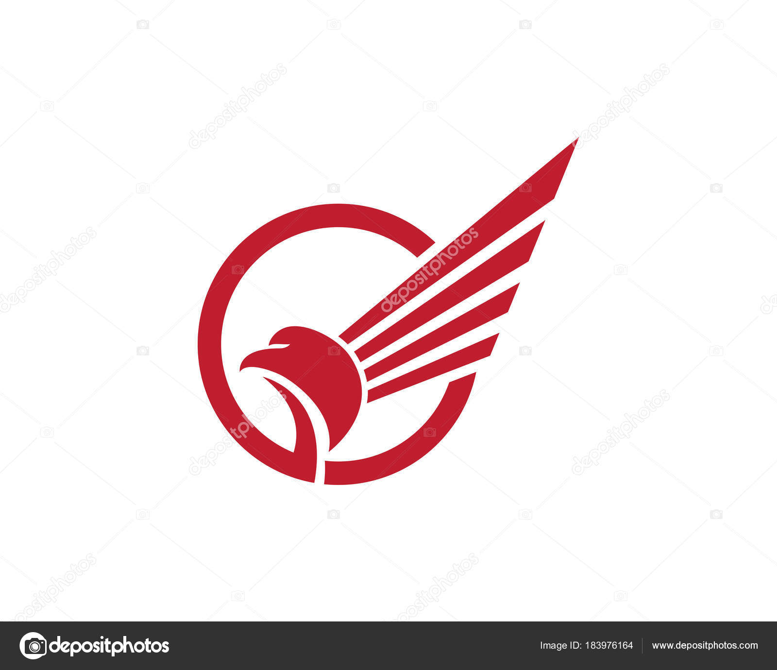 how to draw a falcon logo