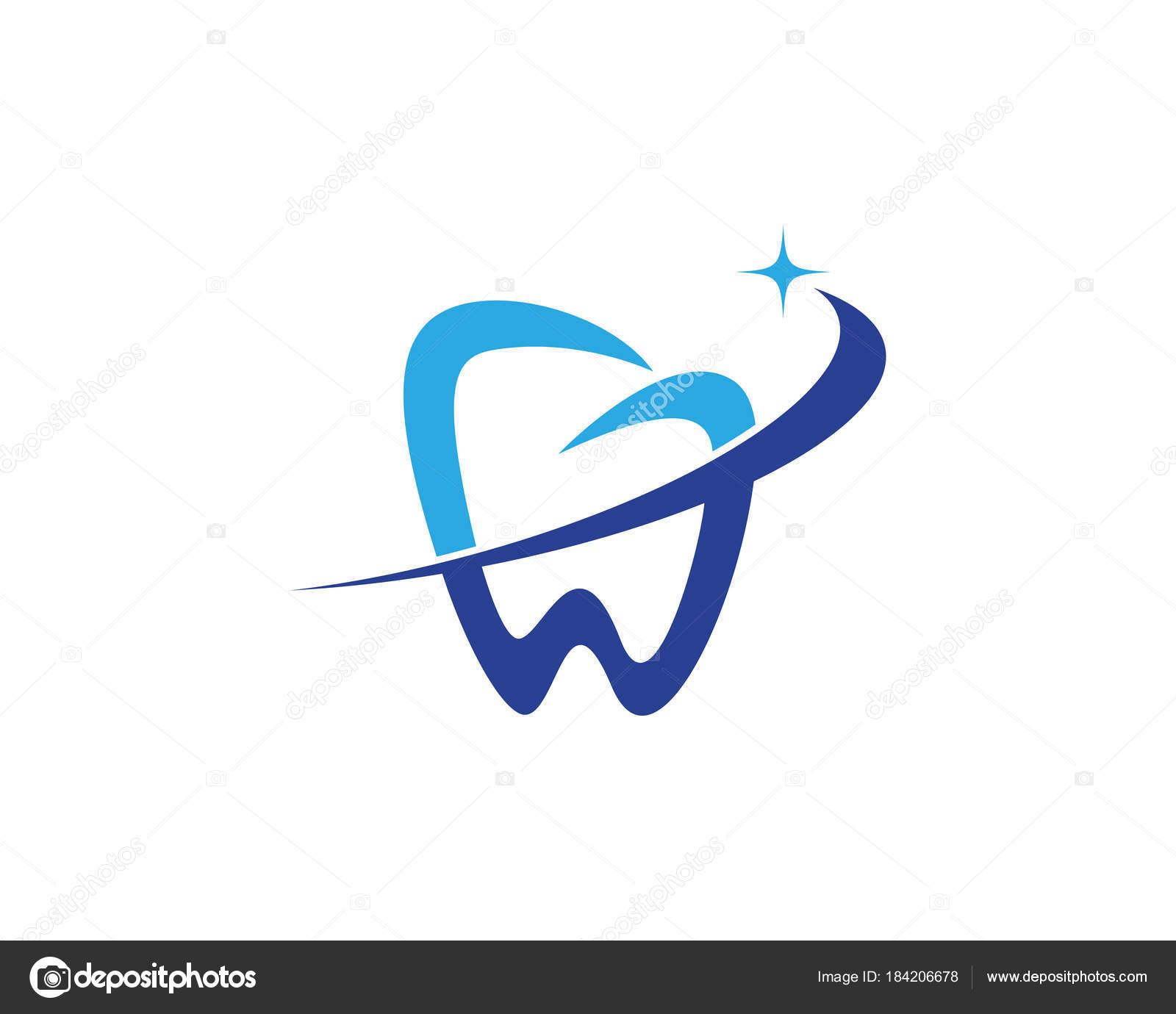 Dental Logo Template Vector Illustration Icon Design By Elaelo