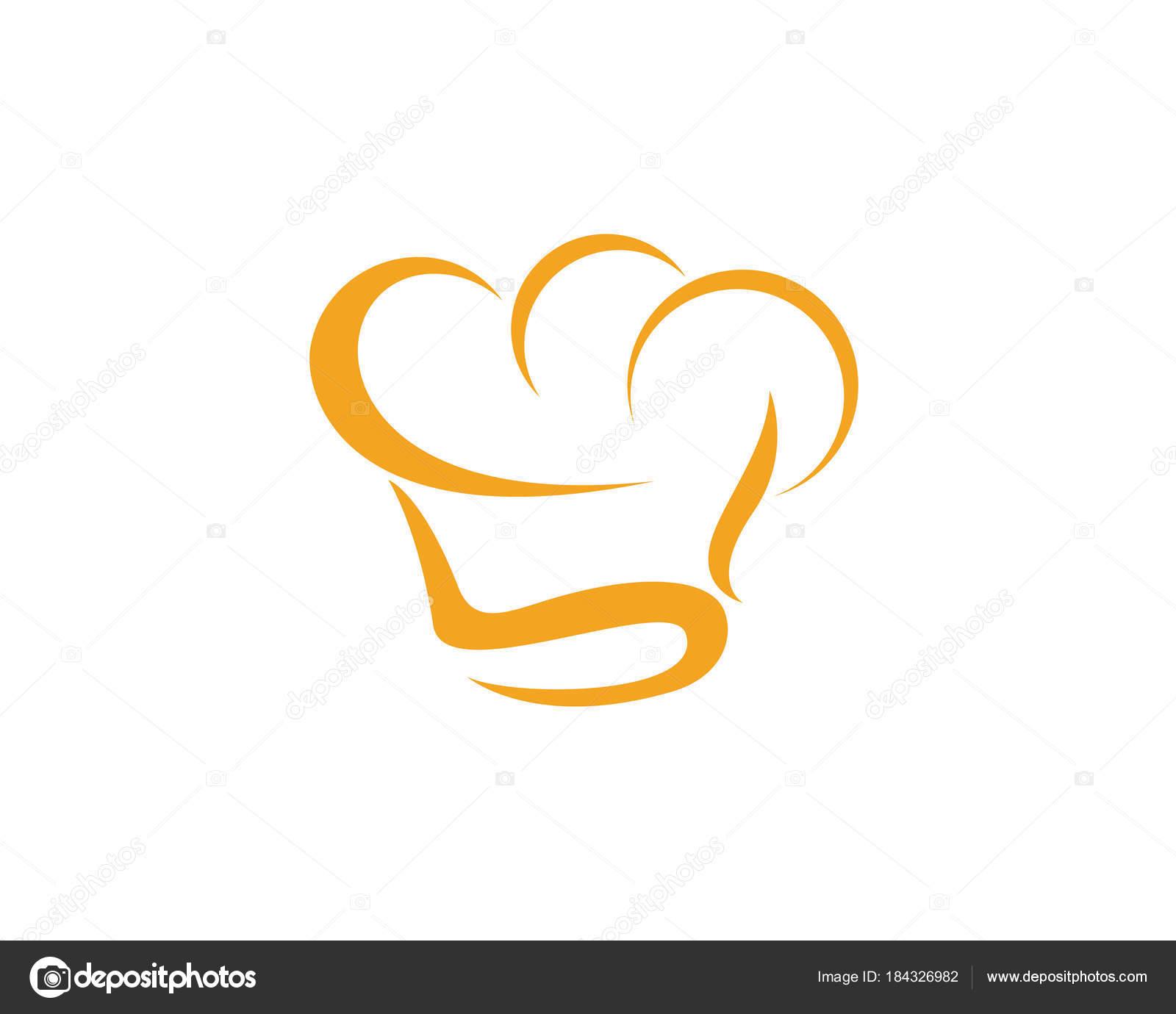 hat chef logo template vector stock vector elaelo 184326982