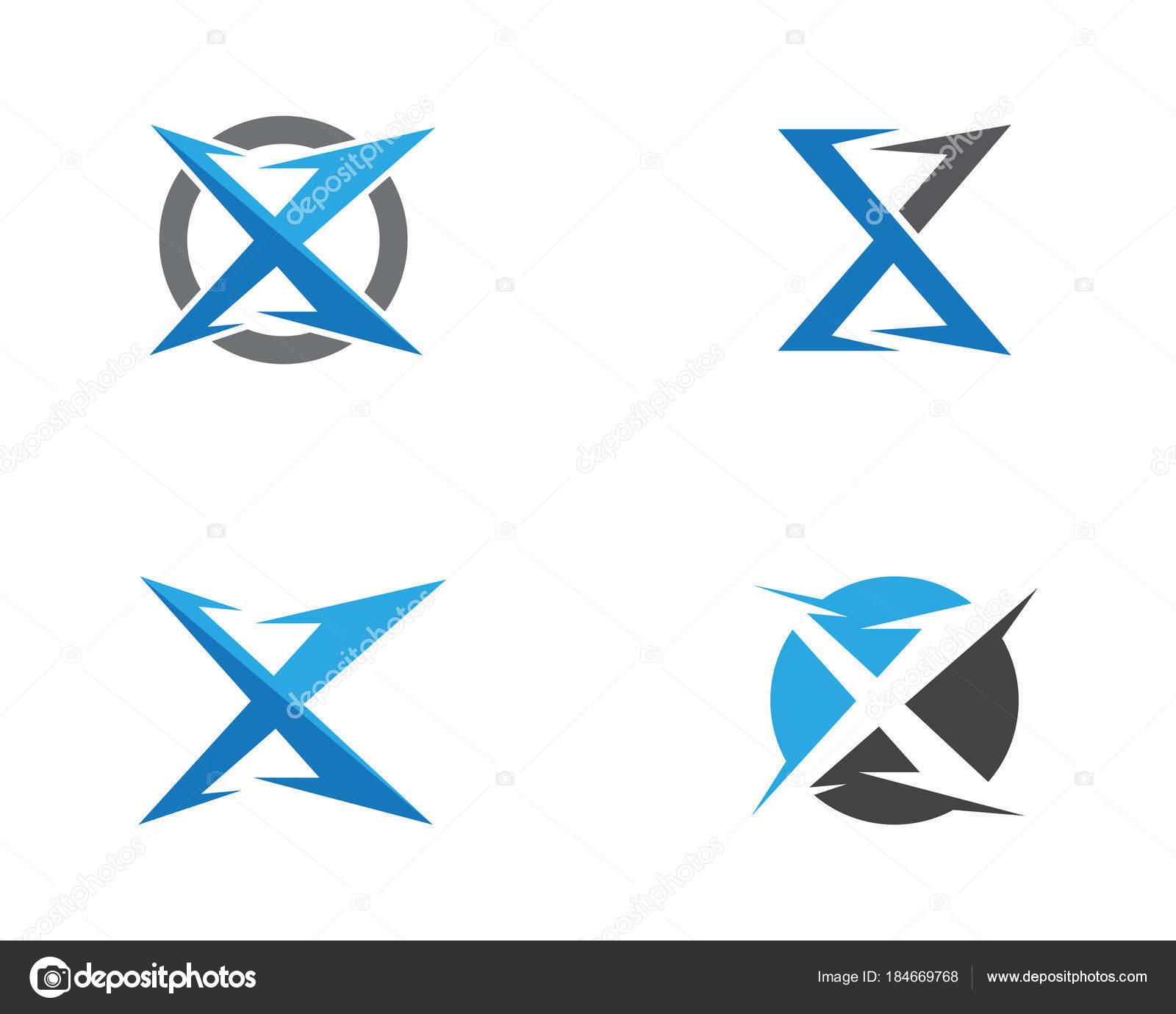 Vector de plantilla de logotipo de letra X — Vector de stock ...