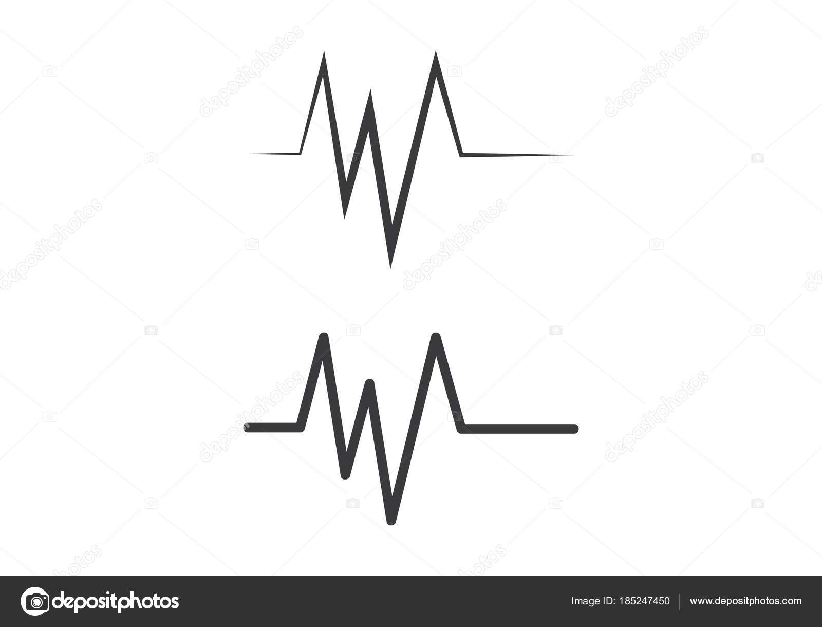 Heartbeat Line Art : Heartbeat cardiogram graph green line in heart shape stock