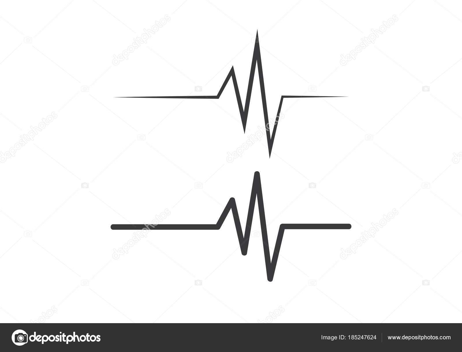 Heartbeat Line Art : Heartbeat pulse vector u stock elaelo