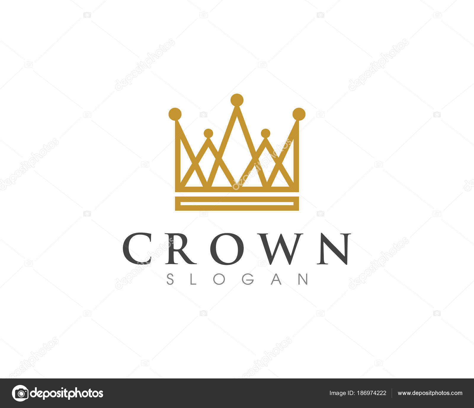 Krone Logo Vorlage Vektor icon — Stockvektor © elaelo #186974222