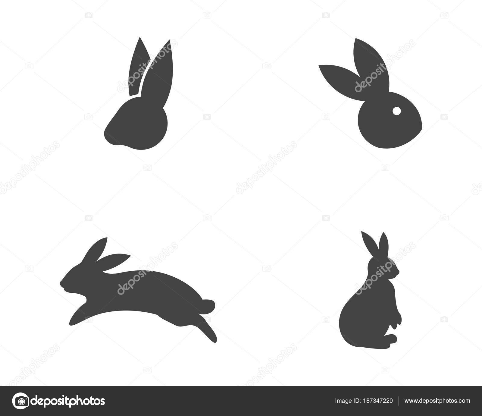 rabbit logo template vector icon illustration design stock vector