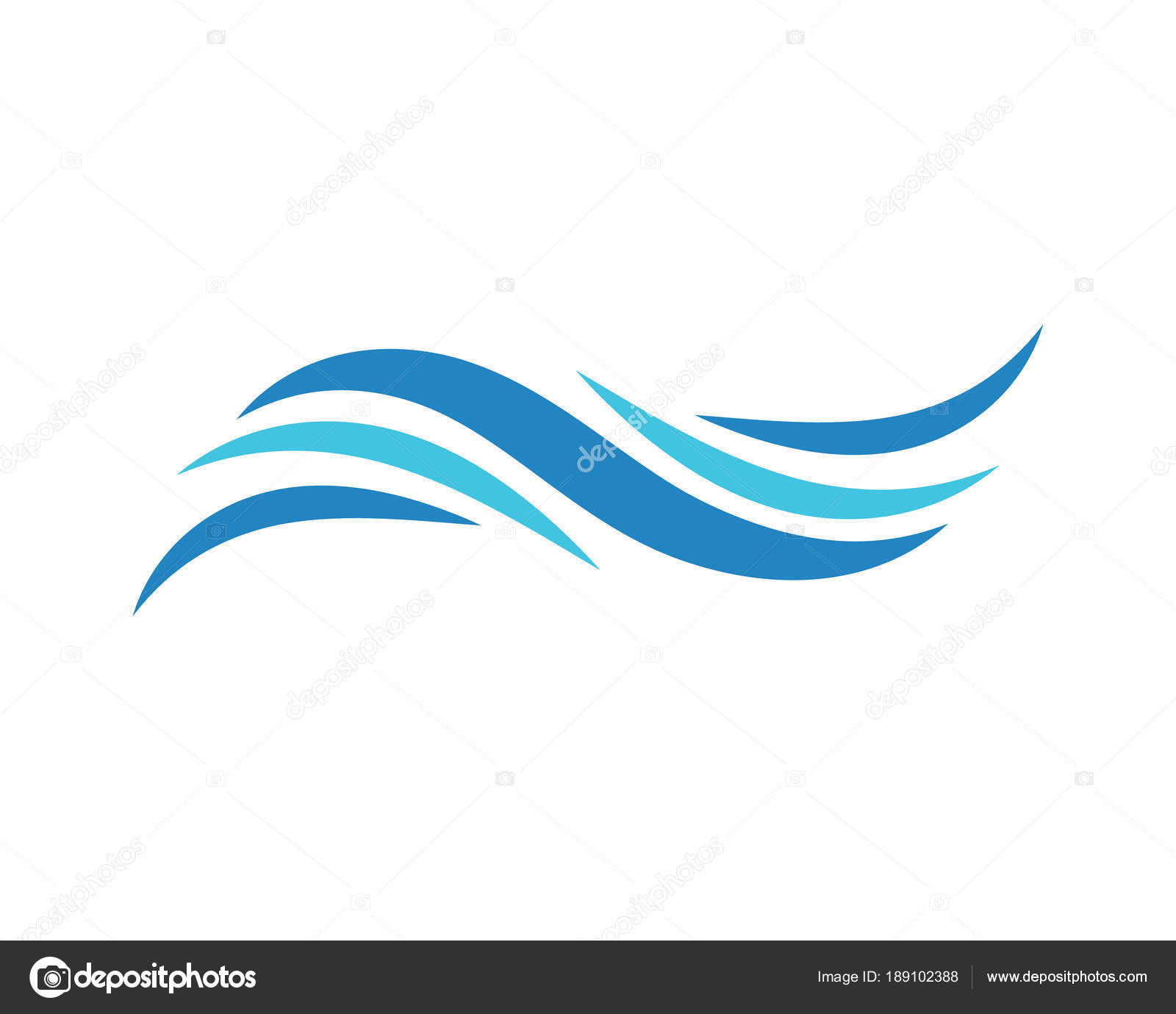 Vague Eau Logo Template Vector Illustration Design Image
