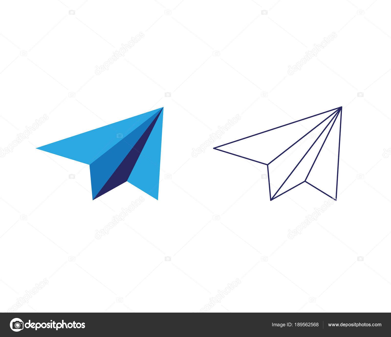 Papier-Flugzeug-Symbol-Vektor-illustration — Stockvektor © elaelo ...