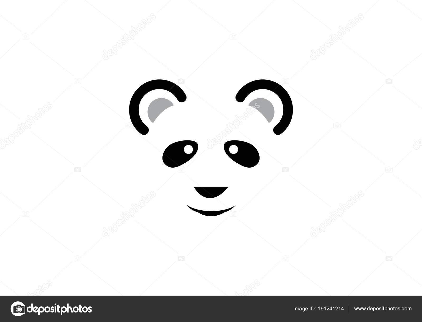 plantilla de logotipo de Panda — Archivo Imágenes Vectoriales ...