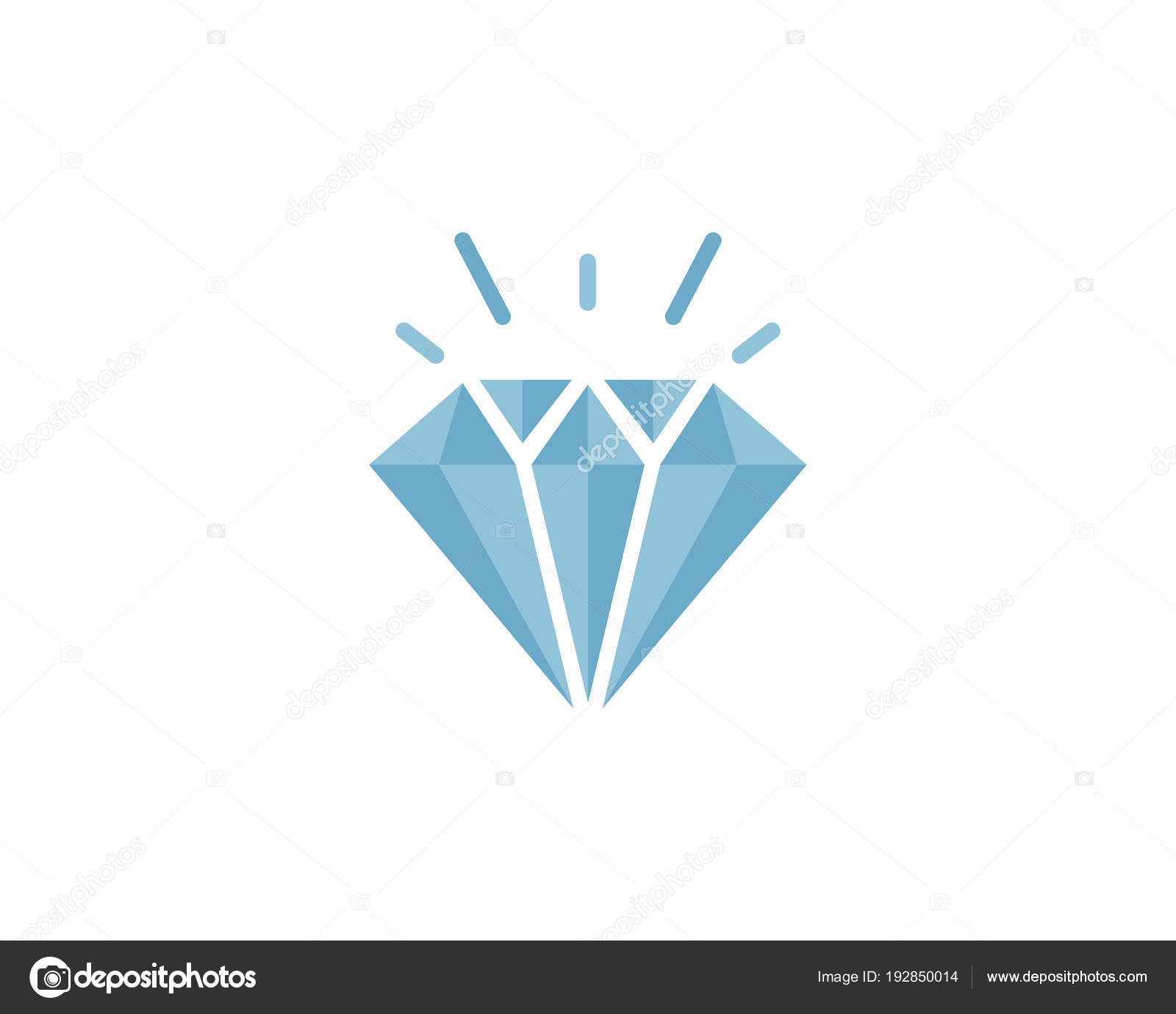 icono de vector de plantilla de logotipo de diamante vector de