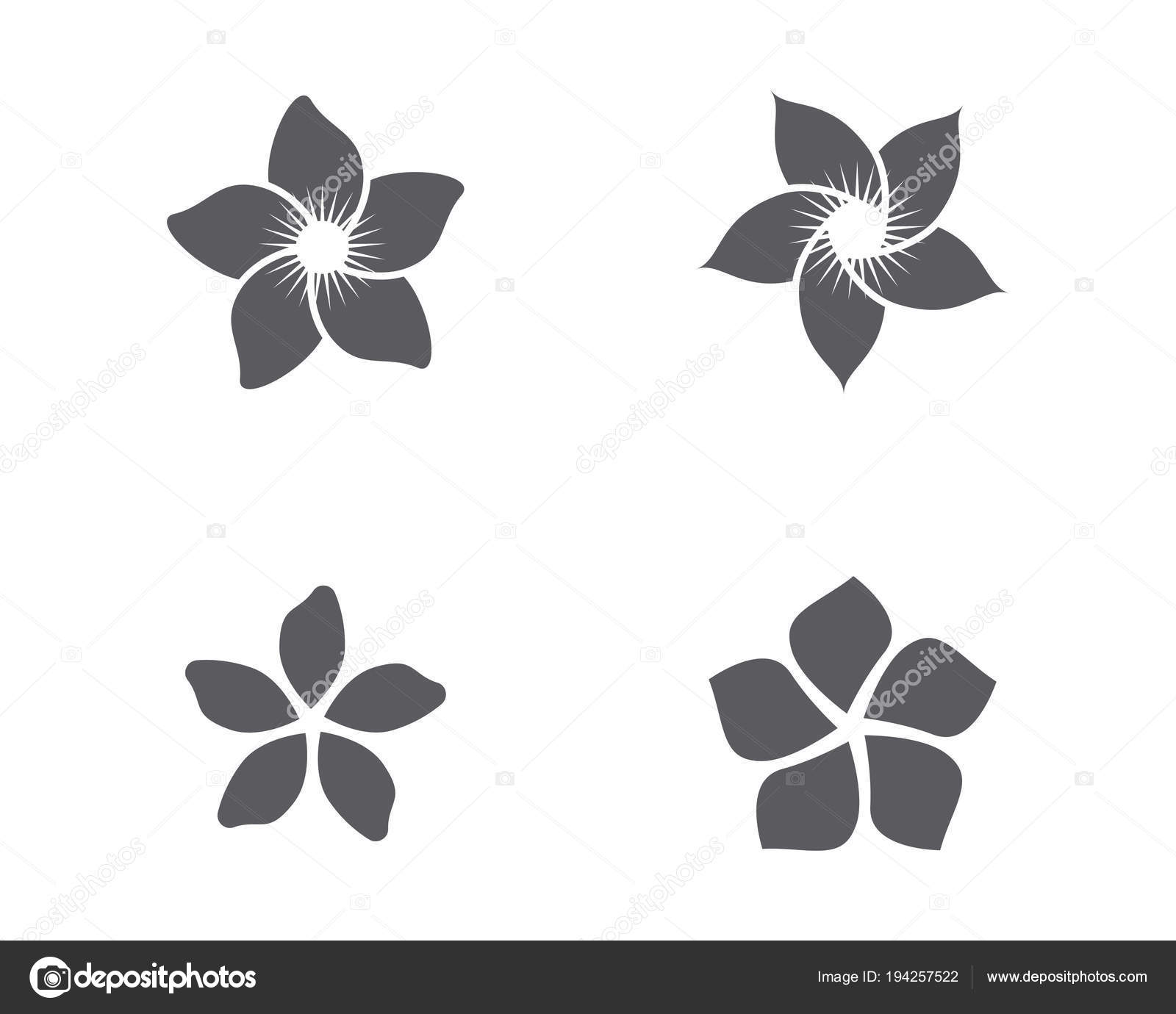 Jasmin Blume Symbol Logo Vorlage — Stockvektor © elaelo #194257522