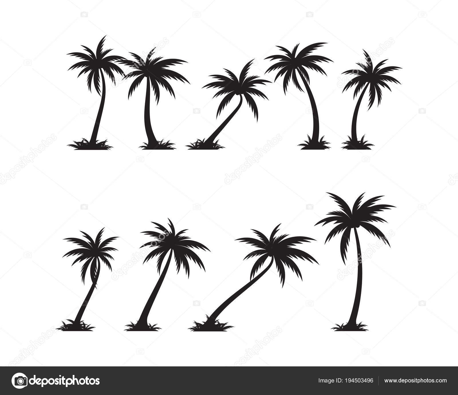 Palm-Baum-Symbol-Vorlage-Vektor-illustration — Stockvektor © elaelo ...