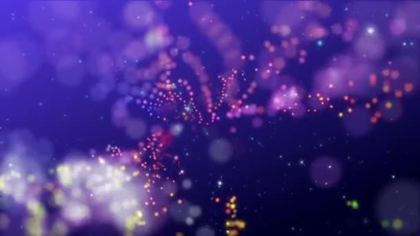 Animace krásná květina částic