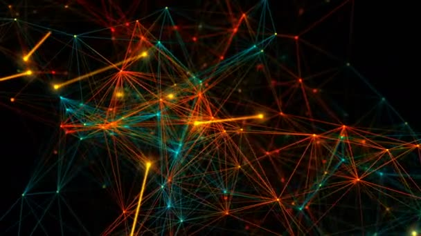 Abstract  concept network, communication, social networking, connection. The birth and growth of a network of connections.