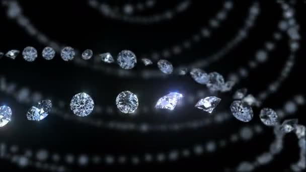 Diamant-Hintergrund. Bewegung von Diamanten. 4 k. aus nächster Nähe. nahtlose Schleife.