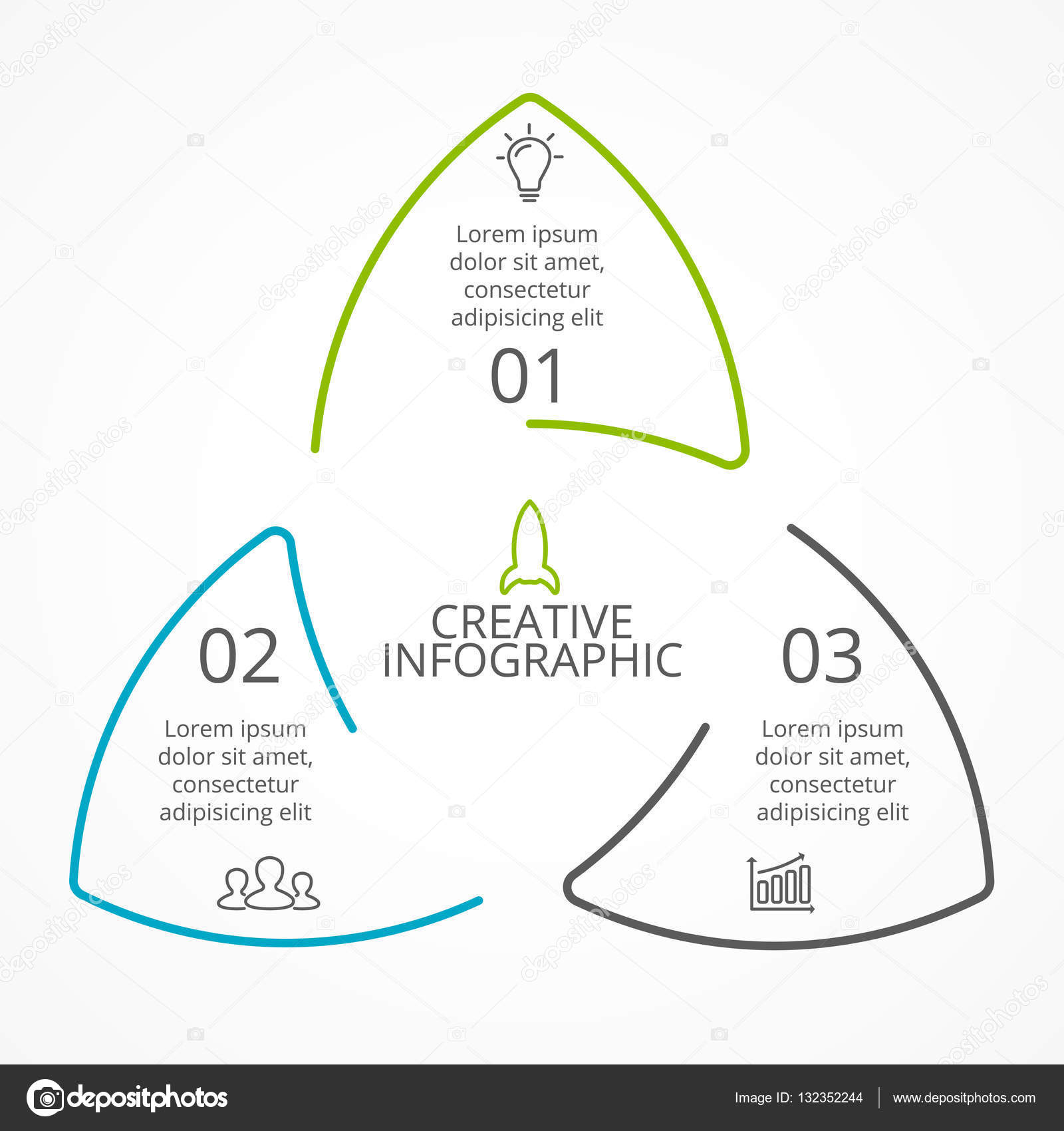 Vector circle arrows triangle infographic cycle diagram graph circle arrows diagram for graph infographic presentation with steps parts options vector by theseamuss ccuart Images