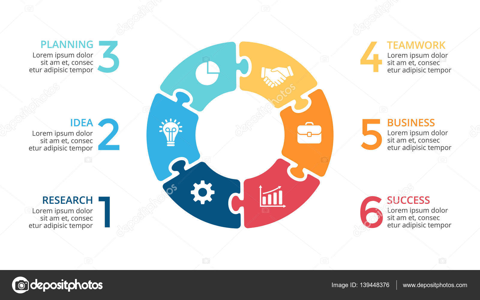 Vector circle arrows puzzle infographic cycle diagram jigsaw graph circle arrows diagram for graph infographic presentation with steps parts options vector by theseamuss ccuart Choice Image