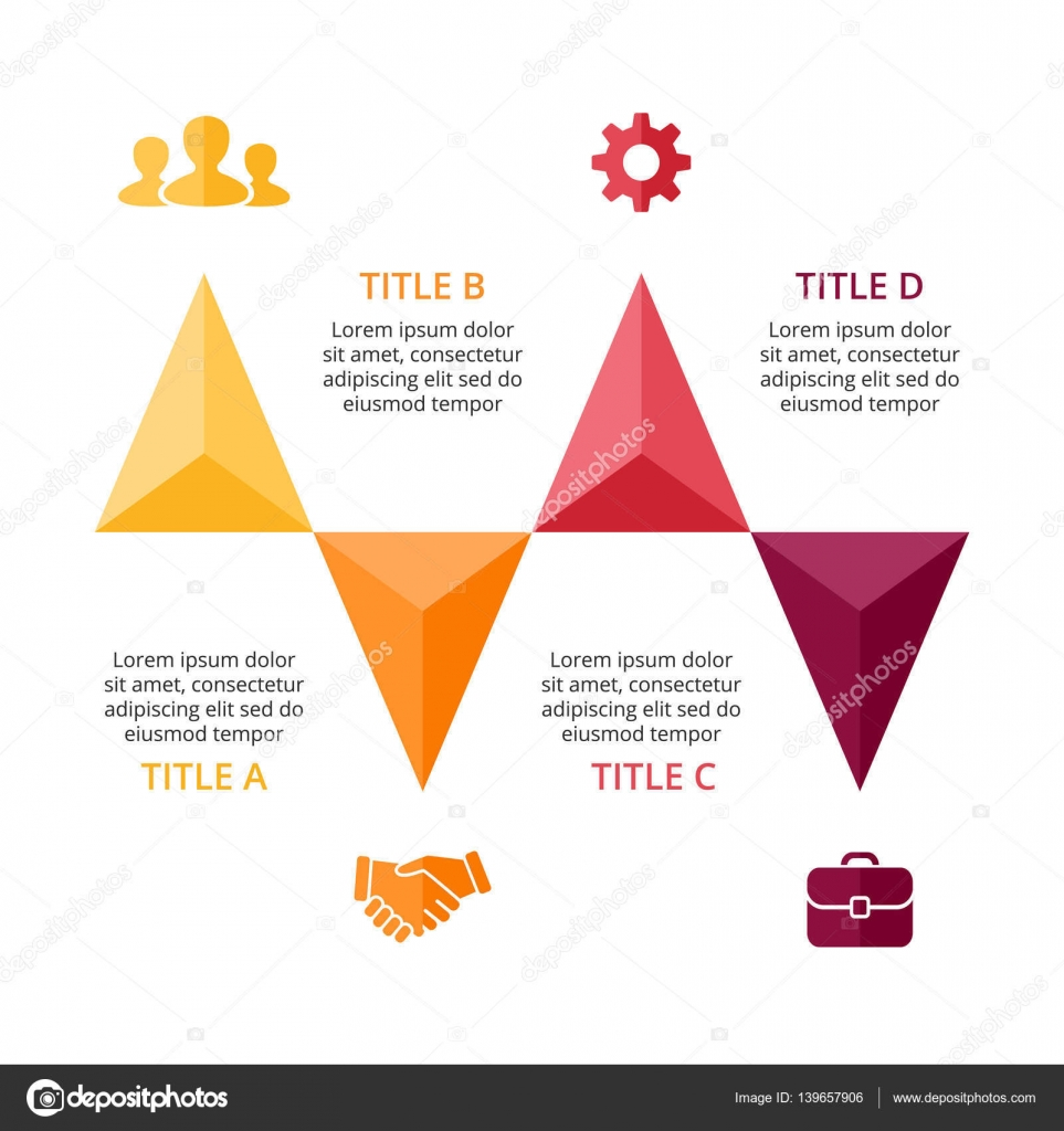 Vektor Pfeile Infografik, Diagramm, Diagramm, Dreieck ...
