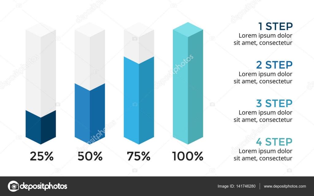 Vectores flechas 3d infografía, diagrama, gráfico presentación ...