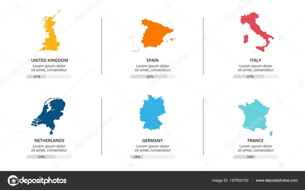 Countries map infographic global business marketing presentation circle arrows diagram for graph infographic presentation with steps parts options vector by theseamuss gumiabroncs Image collections