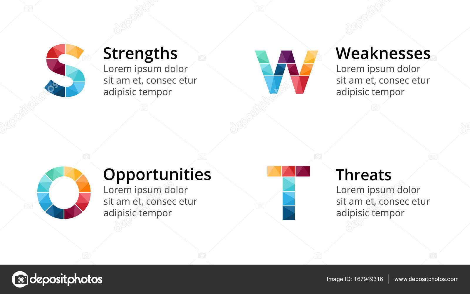 Vector swot analysis square metaball infographic cycle diagram circle arrows diagram for graph infographic presentation with steps parts options vector by theseamuss ccuart Image collections
