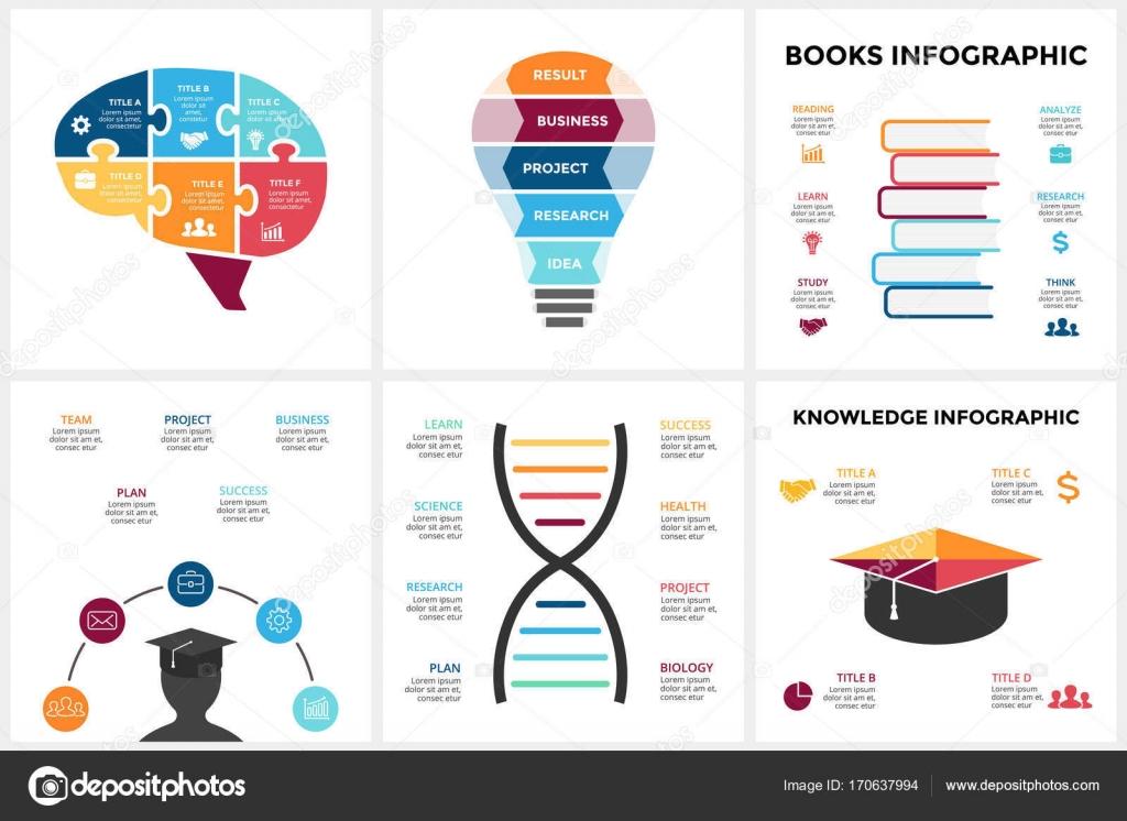 Vector educación cerebro infografía. Plantilla de diagrama de la ...