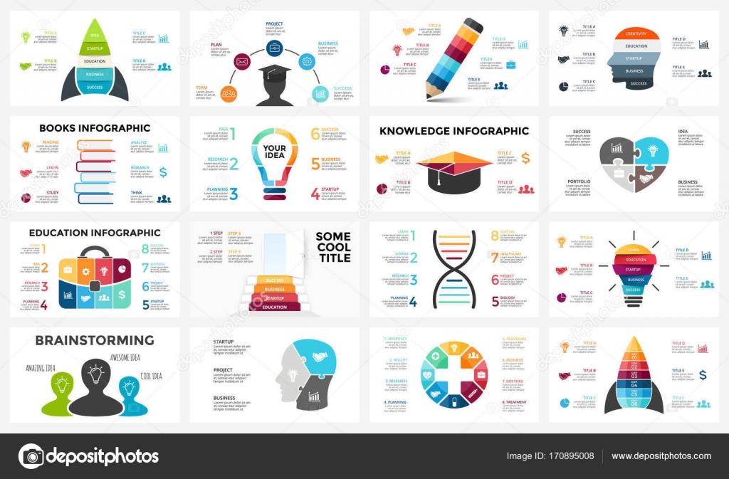 Vektor-Bildung-Gehirn-Infografik. Vorlage für menschliche Geist ...
